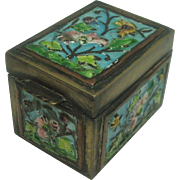 Vintage Chinese Enameled Export Stamp Box