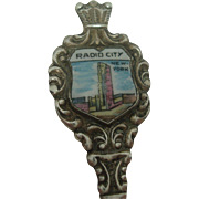 Radio City New York Enameled Souvenir Spoon