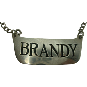 Sterling Brandy Decanter Label or Tag
