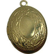 Floral and Leaf Gold Filled Locket