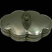 Mexico Sterling Lobed Pill Box