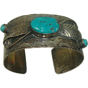Navajo Turquoise Sterling Cuff Bracelet