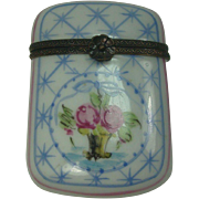 Limoges France Hand Painted Floral Pill Box