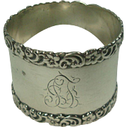 Sterling Acanthus Border Napkin Ring