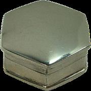Cute Octagonal Sterling Pill Box