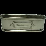 Webster Mildred Sterling Napkin Ring