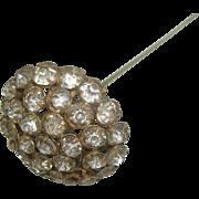 "Vintage Rhinestone hat Pin 10"""