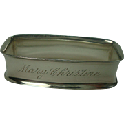Towle Sterling Napkin Ring monogrammed Mary Christine