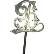 Antique Sterling Hat Pin