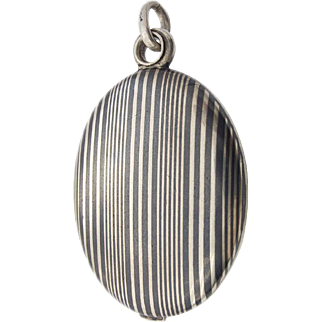 Martin Mayer Mainz Tula Niello Silver Locket Pendant