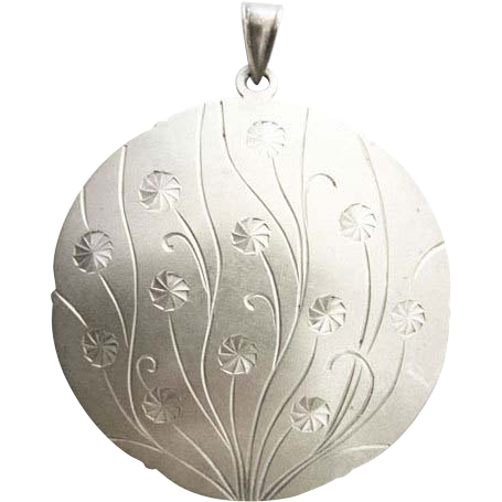Art Deco 835 silver pendant  signed Hans Przyrembel, Leipzig