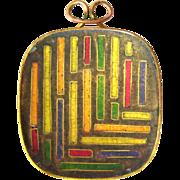 Cloisonne Enamel pendant by Gertrud Fries-Arauner Augsburg Germany 60s