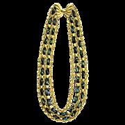 Trifari Confetti Art Glass Multi Strand Necklace