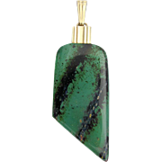 Art Deco Pendant WMF Ikora Glass Jewellery green marbled veined