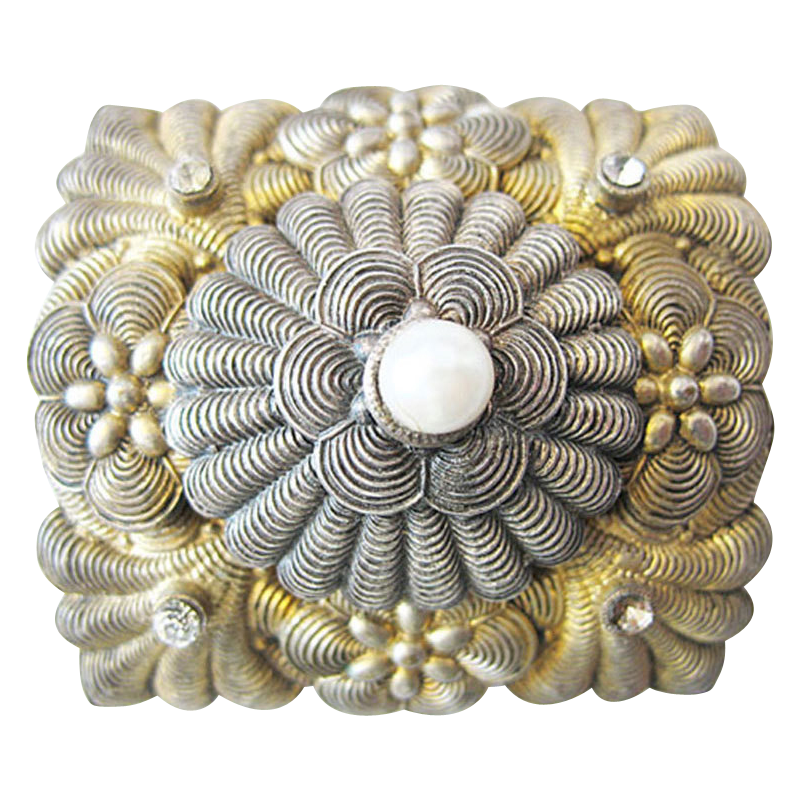 Art Nouveau Silver Belt Buckle Turriet & Bardach