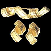 Margareta Ley Escada France brooch ear clips earrings Hollywood film roll