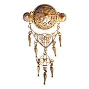 Art Nouveau Solje 830 silver brooch signed Marius Hammer