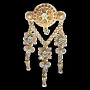 Art Nouveau Solje 830 silver gilt brooch