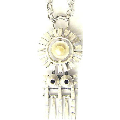 Pentti Sarpaneva Finland modernist silver pendant pearl 1966