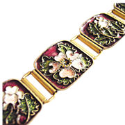 Cloisonne Enamel Bracelet by Gertrud Fries-Arauner Augsburg Germany signed