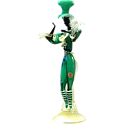 Barovier & Toso female dancer Murano glass figure gold powder