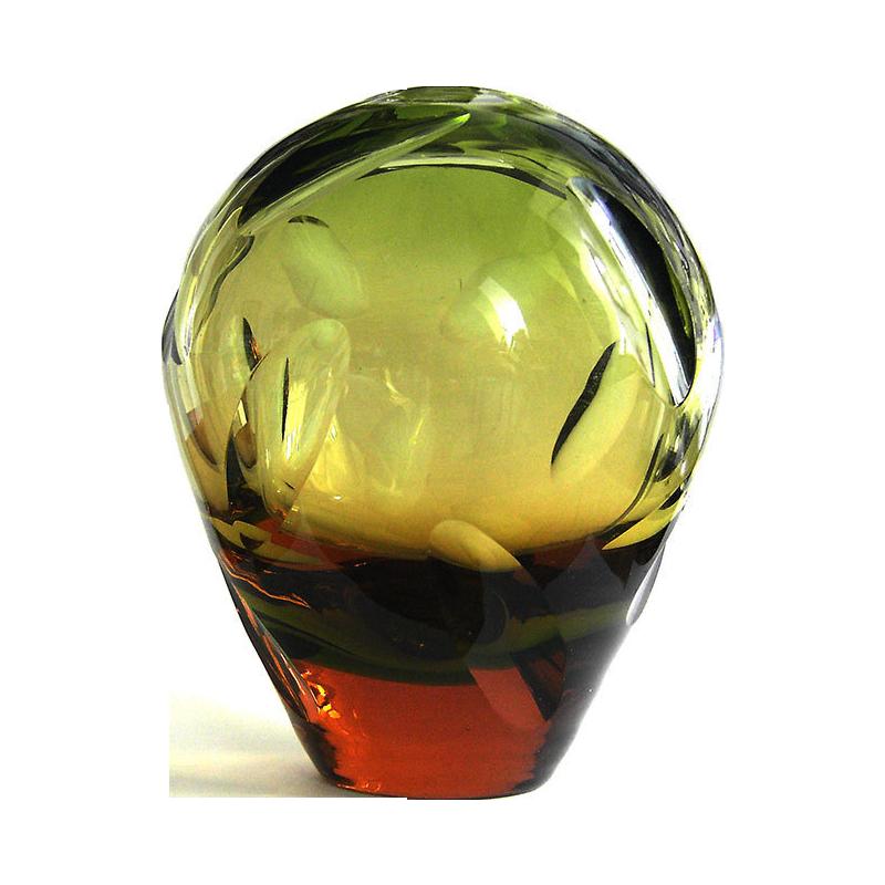 S Cm Cut Glass Vase