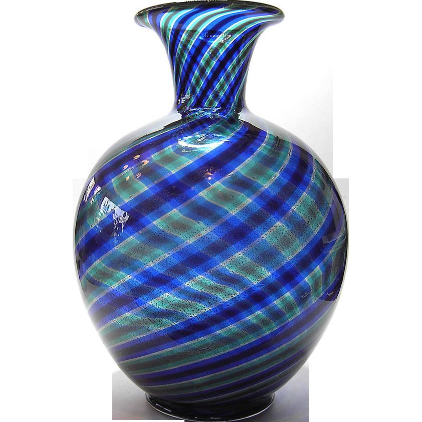 Stripes Vase Striato by Ercole Barovier for Barovier & Toso Murano Italy 1950s
