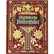Original Art Nouveau German Catholic Picture Bible W. Herlet Berlin 1909