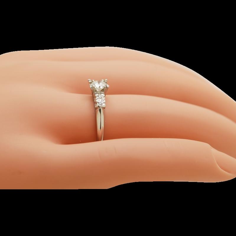 .51ct. Diamond & Platinum Antique Engagement Ring- J29688