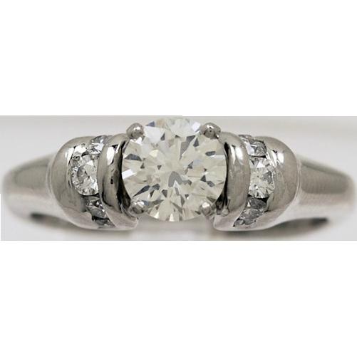 .75ct. Diamond & Platinum Vintage Estate Engagement Ring