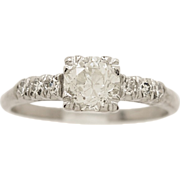 .78ct. Diamond & Gold Art Deco Engagement Ring - J33214