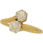 1.04 cts. T.W. Diamond & Yellow Gold Engagement Ring- J33340