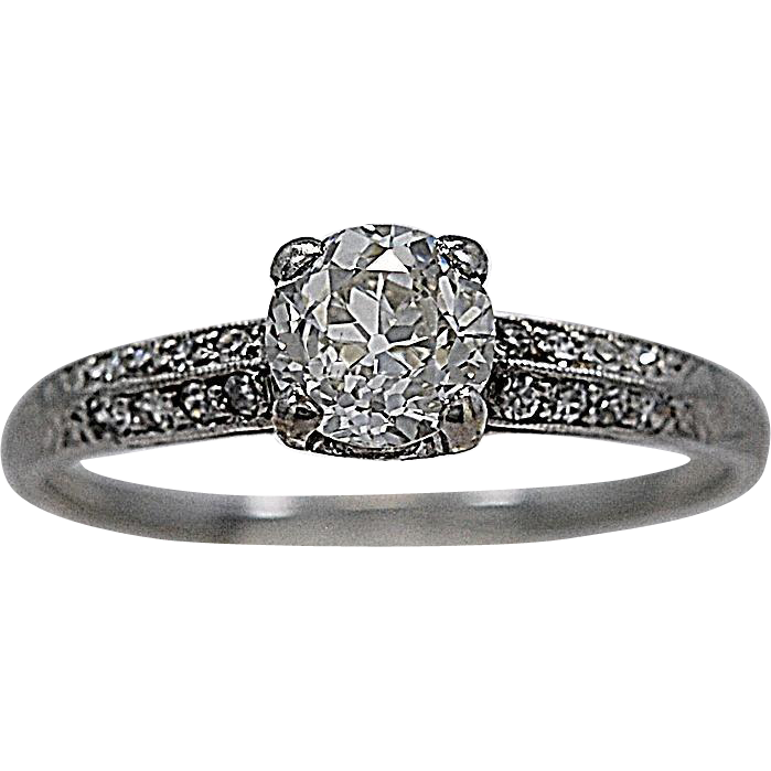 .67ct. Diamond & Platinum Art Deco Engagement Ring - J34179