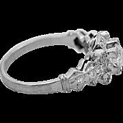 Antique Engagement Ring .45ct. Diamond & Platinum Art Deco - J34250