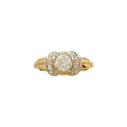 .38ct. Diamond & White/Yellow Gold Art Deco Engagement Ring