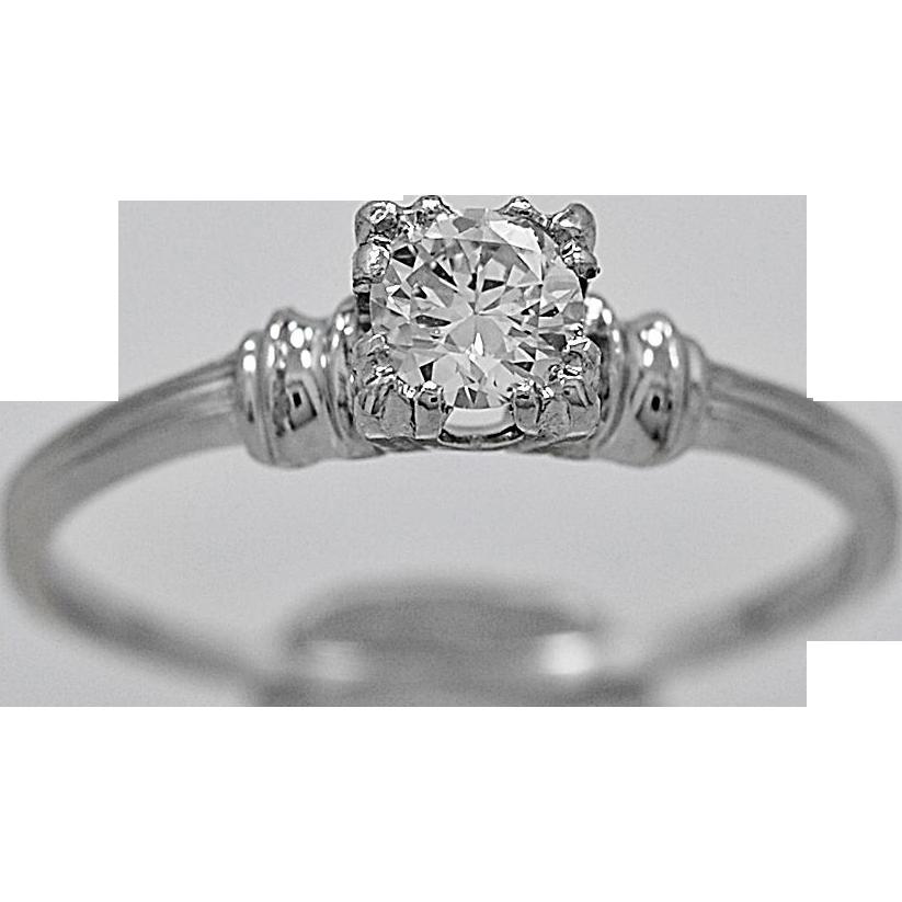Antique Engagement Ring .33ct. Diamond & Platinum Art Deco - J35110