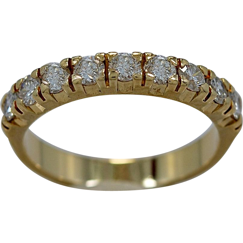 Vintage 1.00ct. T.W. Diamond & Yellow Gold Anniversary Band - J35263