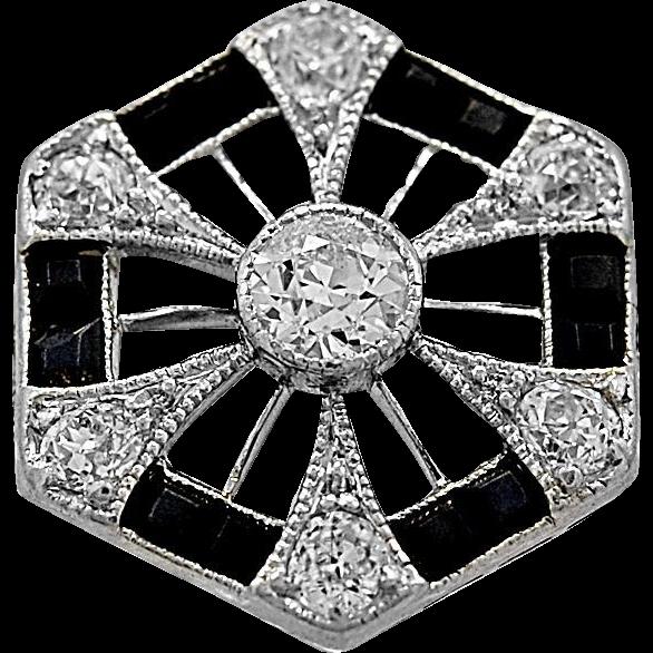 Antique Fashion Ring .18ct. Diamond & Platinum Art Deco - J35702