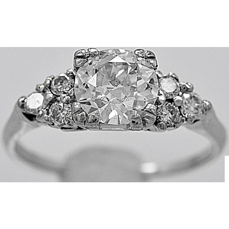 Antique Engagement Ring .95ct. Diamond & Platinum Art Deco - J35756