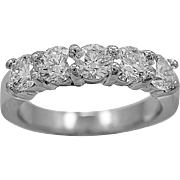 Vintage Wedding Band 1.25ct. T.W. Diamond & Platinum Anniversary - J35791