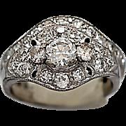 Art Deco .40ct. Diamond Wedding Set 18k & 14k White Gold - J35925