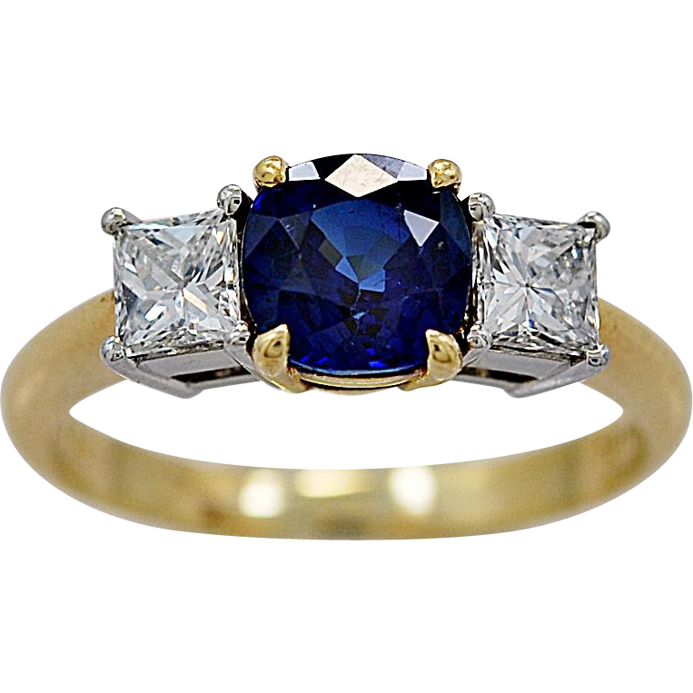 Tiffany & Co. Estate Engagement Ring 1.05ct. Sapphire & Diamond - J35960