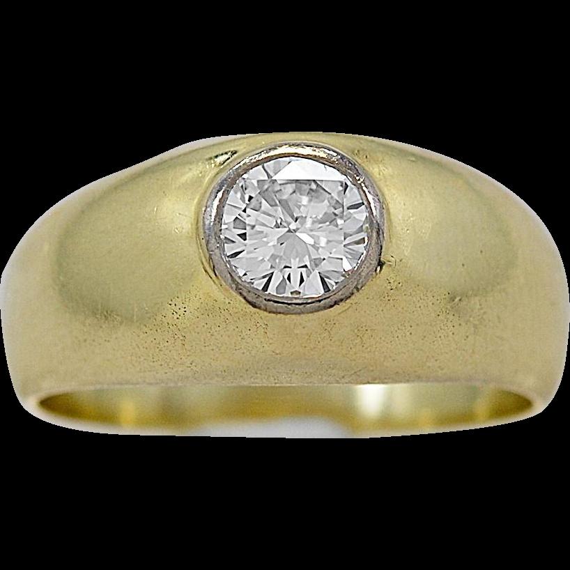 Vintage Engagement Ring .50ct. Diamond & Yellow Gold - J36094