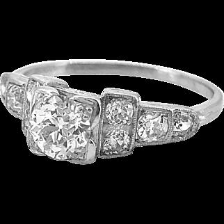 Antique Engagement Ring .60ct. Diamond & Platinum Deco - J36157