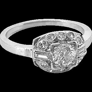 Antique Engagement Ring .40ct. Diamond & Platinum Art Deco - J36234