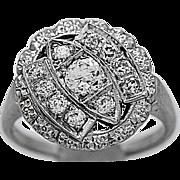 Art Deco .25ct. Diamond Antique Engagement - Fashion Ring White Gold