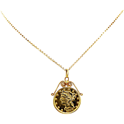 Antique 5.00 Dollar Genuine Gold Coin Necklace