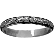 Antique Art Deco Platinum Wedding Band - J36291