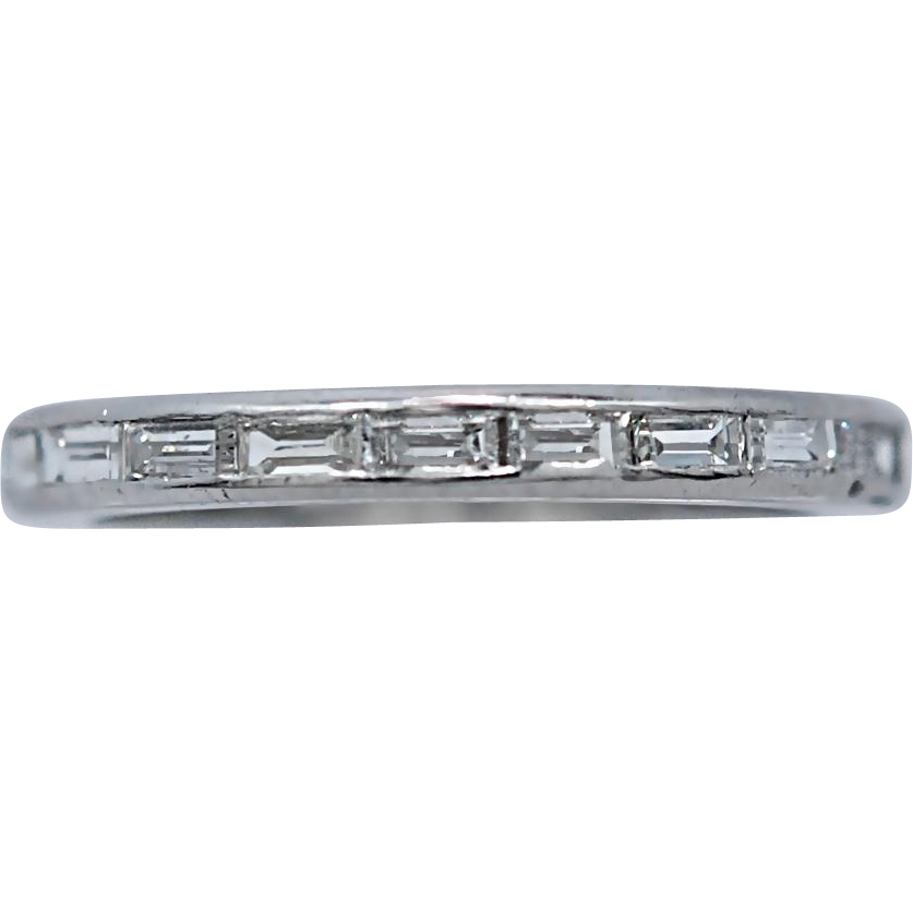Platinum & Diamond Vintage Eternity Band .75ct. T.W.