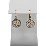 Early Edwardian Earrings .50ct. T.W. Platinum & 18k Yellow Gold
